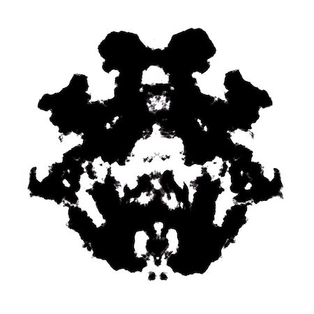 Rorschach inkblot test illustration, random abstract background. Stock Photo - Budget Royalty-Free & Subscription, Code: 400-07718203