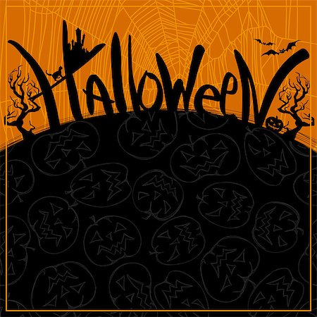 Halloween background, this illustration can be used for your design Stock Photo - Budget Royalty-Free & Subscription, Code: 400-07729897