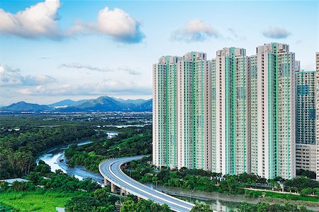 Public Estate in Hong Kong at day Stock Photo - Budget Royalty-Free & Subscription, Code: 400-07754611