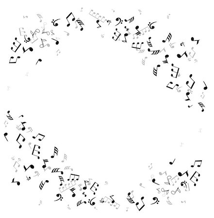 vector musical notes framed background Stock Photo - Budget Royalty-Free & Subscription, Code: 400-07759456