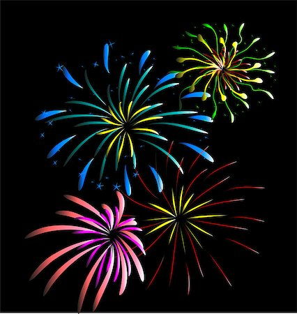 firework illustration - year 2015 made of colored neon effect Stock Photo - Budget Royalty-Free & Subscription, Code: 400-07759588