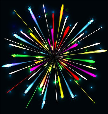 fireworks illustrations - year 2015 made of colored neon effect Stock Photo - Budget Royalty-Free & Subscription, Code: 400-07759597