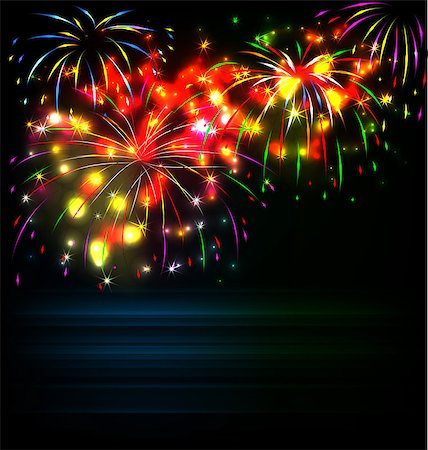 fireworks illustrations - year 2015 made of colored neon effect Stock Photo - Budget Royalty-Free & Subscription, Code: 400-07759601