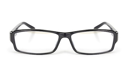 modern black glasses isolated on white background Stock Photo - Budget Royalty-Free & Subscription, Code: 400-07774329