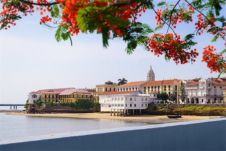 diego_cervo (artist) - Tourist attractions and destination scenics. View of Casco Antiguo in Panama City Stock Photo - Budget Royalty-Free & Subscription, Code: 400-07774675