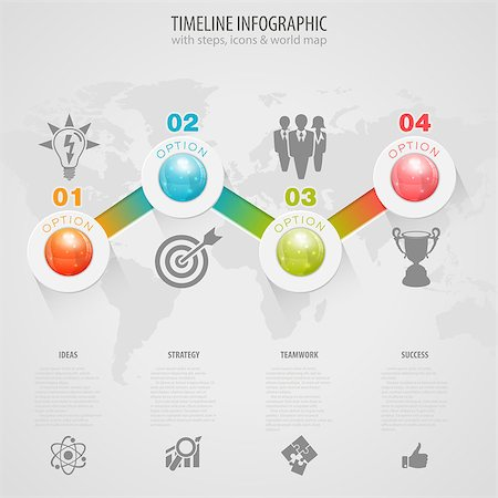 Business Timeline Infographic with Buttons, Icons and Number Options. Vector Template Stock Photo - Budget Royalty-Free & Subscription, Code: 400-07775529