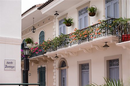 diego_cervo (artist) - Tourist attractions and destination scenics. View of pictouresque street of Casco Antiguo, Panama City Stock Photo - Budget Royalty-Free & Subscription, Code: 400-07776510
