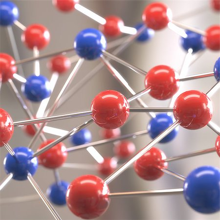 Molecular structure with spheres interconnected with depth of field. Stock Photo - Budget Royalty-Free & Subscription, Code: 400-07777078