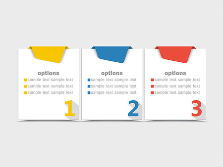 Vector design template with color numbered banners Stock Photo - Budget Royalty-Free & Subscription, Code: 400-07779288