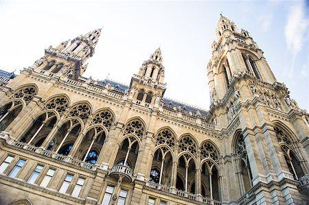 Vienna City Hall, Austria Stock Photo - Budget Royalty-Free & Subscription, Code: 400-07773348