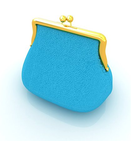 Leather purse on a white background Stock Photo - Budget Royalty-Free & Subscription, Code: 400-07795910