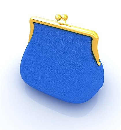 Leather purse on a white background Stock Photo - Budget Royalty-Free & Subscription, Code: 400-07795911