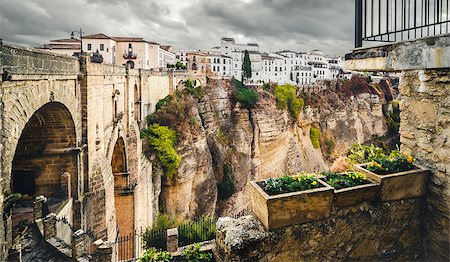 puentes - The Puente Nuevo bridge and Picturesque view of Ronda city. Province of Malaga, Andalusia, Spain Stock Photo - Budget Royalty-Free & Subscription, Code: 400-07791594