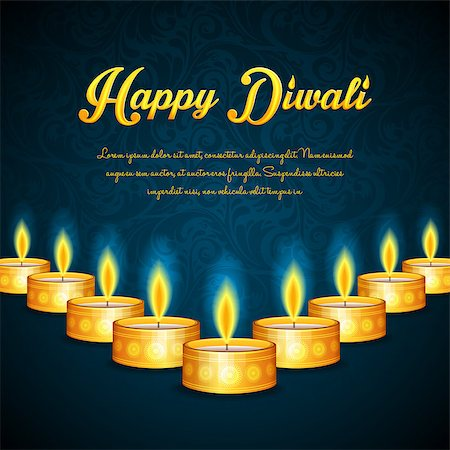 Vector illustration of Happy Diwali Stock Photo - Budget Royalty-Free & Subscription, Code: 400-07826858