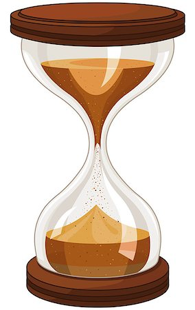 sand clock - Illustration of sand clock Stock Photo - Budget Royalty-Free & Subscription, Code: 400-07827479