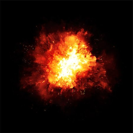 sparks with white background - An image of a nice fire explosion Stock Photo - Budget Royalty-Free & Subscription, Code: 400-07822613