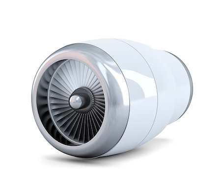 Jet engine. Isolated. Contains clipping path Stock Photo - Budget Royalty-Free & Subscription, Code: 400-07822759