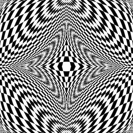 simsearch:400-04476890,k - Design monochrome illusion checkered background. Abstract distortion backdrop. Vector-art illustration Stock Photo - Budget Royalty-Free & Subscription, Code: 400-07836088