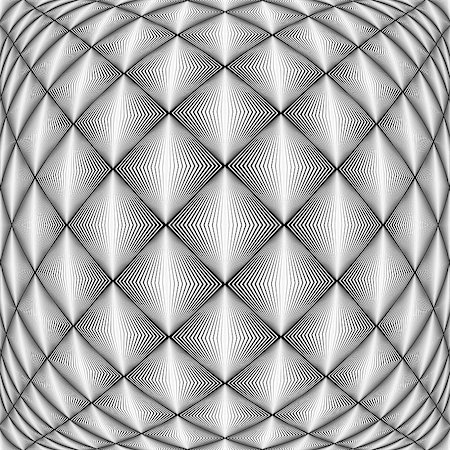 simsearch:400-04476890,k - Design seamless diamond trellised pattern. Abstract geometric monochrome background. Convex texture. Vector art. No gradient Stock Photo - Budget Royalty-Free & Subscription, Code: 400-07836115