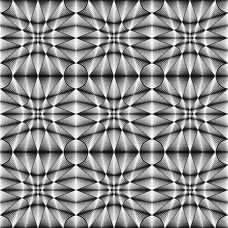 simsearch:400-04476890,k - Design seamless geometric trellised pattern. Abstract monochrome background. Vector art. No gradient Stock Photo - Budget Royalty-Free & Subscription, Code: 400-07836110