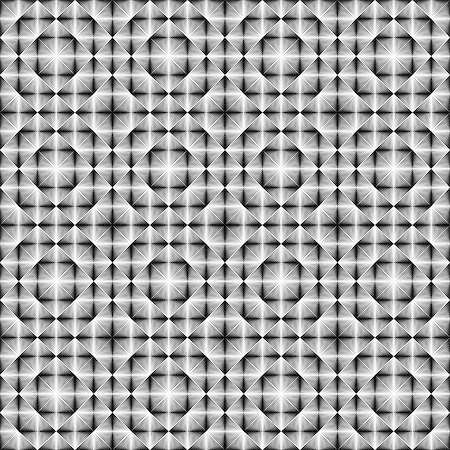 simsearch:400-04476890,k - Design seamless square trellised pattern. Abstract geometric monochrome background. Speckled texture. Vector art Stock Photo - Budget Royalty-Free & Subscription, Code: 400-07836113