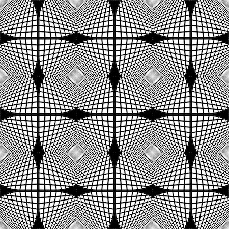 simsearch:400-04476890,k - Design seamless monochrome geometric pattern. Abstract textured background. Vector art Stock Photo - Budget Royalty-Free & Subscription, Code: 400-07839496