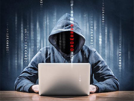 picture of an hacker on a computer Stock Photo - Budget Royalty-Free & Subscription, Code: 400-07830103