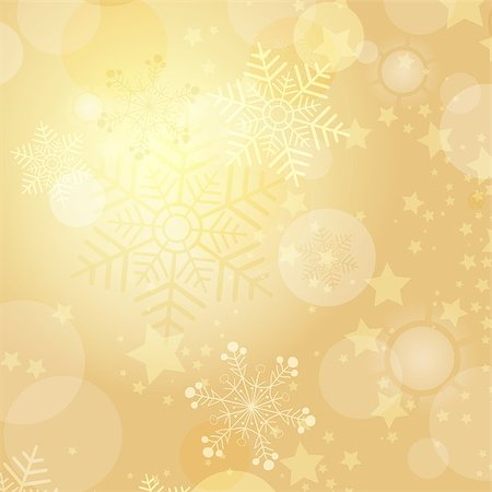 Christmas gold frame with balls and snowflakes (vector eps 10) Stock Photo - Budget Royalty-Free & Subscription, Code: 400-07833878
