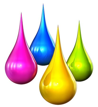 paint dripping graphic - 3D rendering of color drops Stock Photo - Budget Royalty-Free & Subscription, Code: 400-07840443