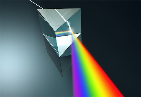 The crystal prism disperses white light into many colors. Stock Photo - Budget Royalty-Free & Subscription, Code: 400-07895574