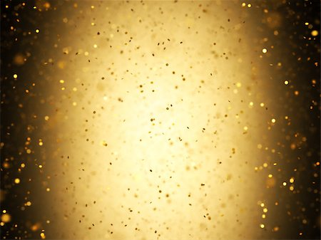 Illuminated background with gold confetti falling with depth of field. Stock Photo - Budget Royalty-Free & Subscription, Code: 400-07897492