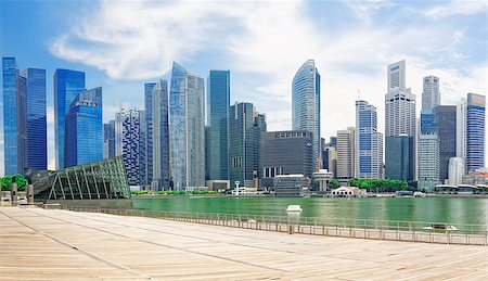 Singapore city skyline at day asia famous downtown Stock Photo - Budget Royalty-Free & Subscription, Code: 400-07892825