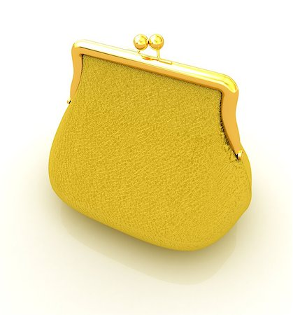 Leather purse on a white background Stock Photo - Budget Royalty-Free & Subscription, Code: 400-07893017