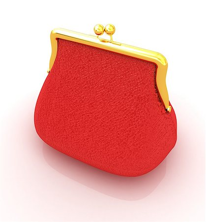 Leather purse on a white background Stock Photo - Budget Royalty-Free & Subscription, Code: 400-07893019