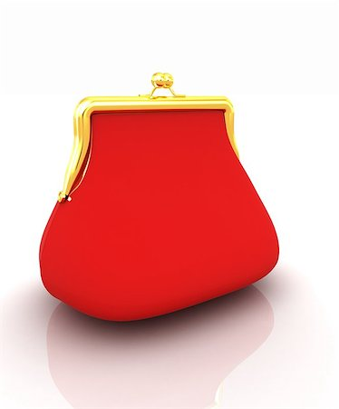 Purse on a white background Stock Photo - Budget Royalty-Free & Subscription, Code: 400-07893025