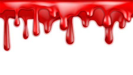 dripping blood - Red blood drips seamless patterns on white background. Vector illustration Stock Photo - Budget Royalty-Free & Subscription, Code: 400-07893271