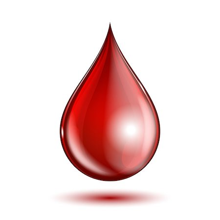 dripping blood - Blood drop isolated on white background. vector illustration Stock Photo - Budget Royalty-Free & Subscription, Code: 400-07893273