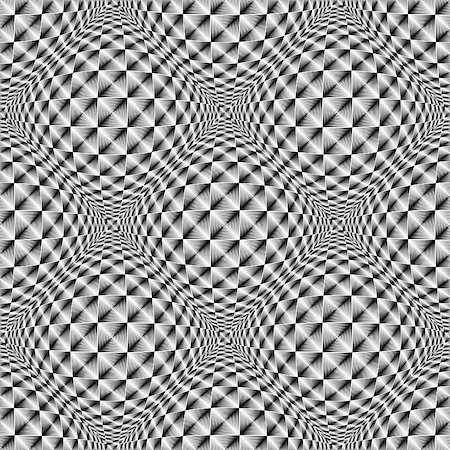 simsearch:400-04476890,k - Design seamless warped diamond trellised pattern. Abstract geometric monochrome background. Vector art Stock Photo - Budget Royalty-Free & Subscription, Code: 400-07904325