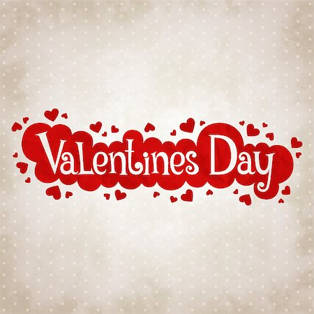 simsearch:400-04863562,k - Vector vintage background Valentine's day with a festive label Stock Photo - Budget Royalty-Free & Subscription, Code: 400-07904480