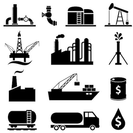 soleilc (artist) - Oil and petroleum industry icons Stock Photo - Budget Royalty-Free & Subscription, Code: 400-07919307