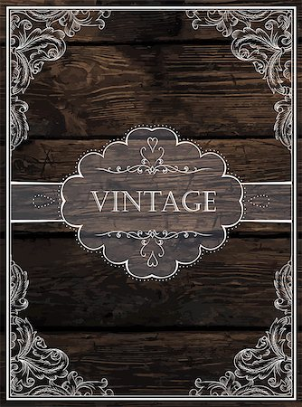 Vintage Card Design. Vector Stock Photo - Budget Royalty-Free & Subscription, Code: 400-07919548