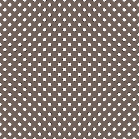 Seamless vector pattern with small white polka dots on a dark brown background for decoration wallpaper Stock Photo - Budget Royalty-Free & Subscription, Code: 400-07937740