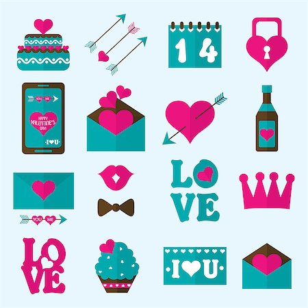 Valentine flat icon, vector illustration Stock Photo - Budget Royalty-Free & Subscription, Code: 400-07937856