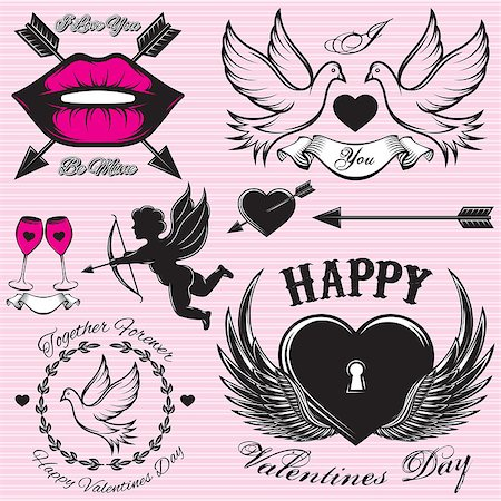 simsearch:400-04863562,k - set of vector patterns for love cards for Valentines Day Stock Photo - Budget Royalty-Free & Subscription, Code: 400-07955839