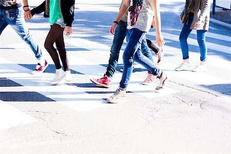 Fashionable young people take a step forward on the road Stock Photo - Budget Royalty-Free & Subscription, Code: 400-07952678