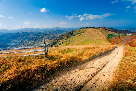 Colorful autumn landscape. Carpathian mountains Stock Photo - Budget Royalty-Free & Subscription, Code: 400-07952877