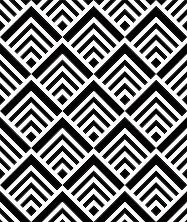 Seamless geometric pattern, simple vector black and white stripes background, accurate, editable and useful background for design or wallpaper. Stock Photo - Budget Royalty-Free & Subscription, Code: 400-07975942