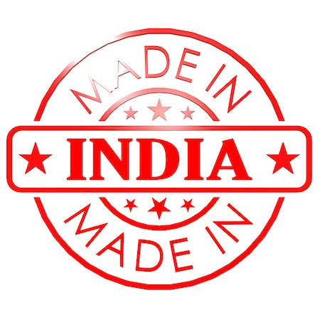 Made in India red seal Stock Photo - Budget Royalty-Free & Subscription, Code: 400-07977033