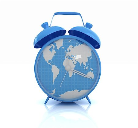 Clock of world map Stock Photo - Budget Royalty-Free & Subscription, Code: 400-07977470