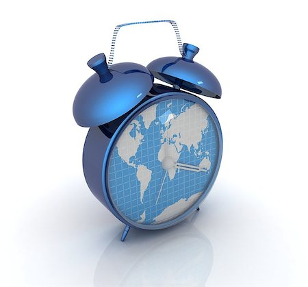Clock of world map Stock Photo - Budget Royalty-Free & Subscription, Code: 400-07977471